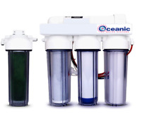 Oceanic Reverse Osmosis RO/DI Aquarium Reef Water Filter System 5 Stage 75 GPD