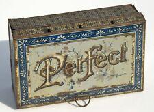 ancienne boite perfect en tole  tampon lettre imprimerie