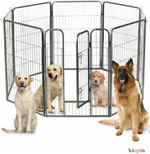 """8 Panel 40"""" Folding Heavy Duty Pet Playpen Metal Dogs Pen Fence Exercise Cage Us"""