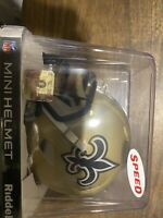 MARCUS DAVENPORT SIGNED AUTO SPEED MINI HELMET BAS WITNESSED NEW ORLEANS SAINTS