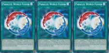 Parallel World Fusion 1st Edition X 3 MINT YUGIOH SDHS Hero Strike