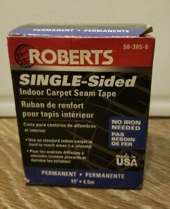 Roberts Single Sided I Door Carpet Seam Tape Permanent 15 Feet 50-305-6