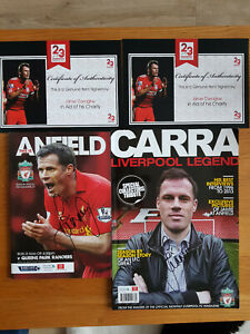 Liverpool FC Player Jamie Carragher Signed Collectors Books Magazines FREE P&P