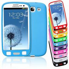 SMART BEAN PLAIN SOFT SILICONE BIG BUTTON CASE COVER FOR SAMSUNG GALAXY S3 LTE