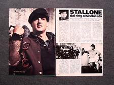 AN29- Clipping-Ritaglio -1978- SYLVESTER STALLONE , DAL RING AL SINDACATO