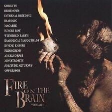 Various - Fire on the Brain CD 2001 Gorguts Behemoth Diabolic Monstrosity