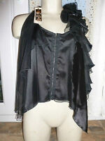 BNWT River Island Top Size 12 £30 Black Corset Style Mesh Gothic Dress Up Emo