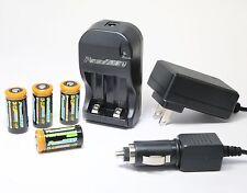 4X Batteries + Charger for Canon EOS ELAN 7 7N EOS IX Rebel G GII XS IX