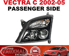 VAUXHALL VECTRA C NEW HEADLIGHT HEADLAMP BLACK PASSENGER NEAR LEFT SIDE SRI CDTI