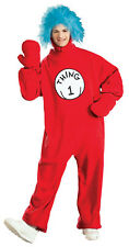 Thing 1 Dr. Seuss Cat in the Hat Halloween Deluxe Adult Costume