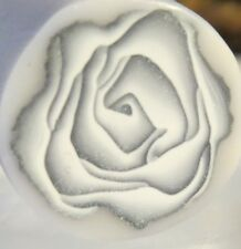 Silver rose clay cane, Unbaked polymer clay cane, Rose flower, clay art, Raw