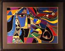 Neal Doty Global Village framed Signed Fine Art Serigraph SUBMIT BEST OFFER