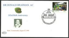 SIR DONALD BRADMAN 2011 103rd BIRTHDAY COVER GABBA CRICKET POSTMARK