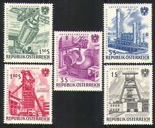 Austria 1961 Industria/Estrazione del Carbone/Olio/acciaio/ferro FONDERIA/acciaio 5v Set (n31355)