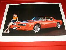 ★★RARE-1978 PONTIAC TRANS AM T/A POSTER/PHOTO 78 FIREBIRD 6.6 76 77 79 80 81★★