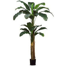 8' DOUBLE BANANA PALM ARTIFICIAL TREE PLANT POT ARRANGEMENT FLOWER FLORAL BUSH