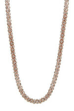 "Betsey Johnson rose gold plated, with crystals, 32"" necklace NEW"