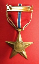 World War II US Army AC Bronze Star Medal Named- script engraved slot broach #1