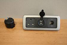 CBE Triple Frame,Campervan, 12v Socket, 240v Socket, Double 12v USB Socket Fl