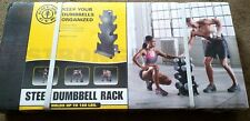 Retired Compact Gold's Gym Steel Dumbbell Rack Tree up to 160 Lbs New NOS Rare