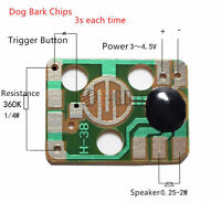 10PCS 3-4.5V Dog Barking Music Yelp Voice Module Board for DIY/Toy New