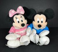 Disney Store Authentic 2011 Mickey Minnie Mouse Ice Skate Holiday Plush Soft Toy