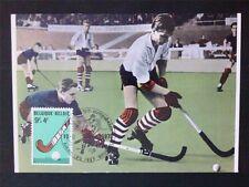 BELGIEN MK 1970 ROLLHOCKEY HOCKEY SPORT MAXIMUMKARTE CARTE MAXIMUM CARD MC c6493