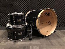 SJC Custom Black Sparkle 3 Piece Bop Jazz Drum Kit