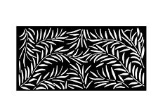 Decorative Garden Metal Fence Screen 'Bloom' Laser Cut, 900x1800, Corten Steel