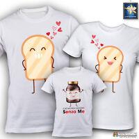 T-shirt magliette famiglia FAMILY NUTELLA FESTA DEL PAPA'DELLA MAMMA Idea Regalo
