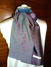 100% woven silk men's cravat/scarf/ascot  Dark grey/small classic pattern  NEW