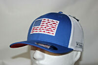 Columbia PFG Fish Flag Mesh Fitted Ball Cap in Vivid Blue L/XL 7 - 7 3/4