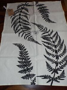 ROYAL BOTANIC GARDENS KEW Ferns BLACK 100% Cotton TEA TOWEL FREEPOST