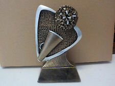 """Cheer trophy or award, about 5.5"""" tall, engraving included, Brand New Design!"""