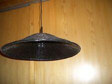 Hängeleuchte in Bambus schwarz lackiert  m.Fassung ca.60cm L Durchm.ca.52 cm