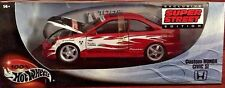 100% Hot Wheels Custom Honda Civic SI 2000 Super Street Edition Red 1/18 NIB