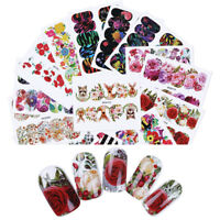 Nail Art Transfer Stickers Adhesive Decals Flower Animal Nail Decoration Designs