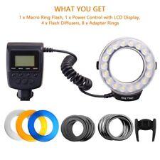 Macro LED Ring Flash Light RF-600D For Canon Nikon Panasonic Pentax 18pc SMD LED