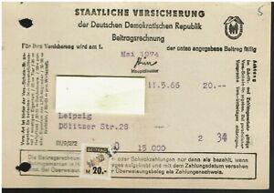Germany GDR DDR Insurance revenues Staatliche Versicherung Beitragmarken Fiskal0