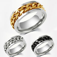 Mens silver tribal CHAIN wedding ring band MANY SIZES K - Z4 engagement new MN34