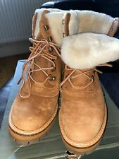 Womens Timberland Suede Boots Uk Size 4.5 Factory 2nds Slight Markings See Photo