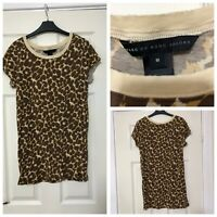 Marc Jacobs T Shirt Leopard Print Short Sleeve Size Medium M (A736)