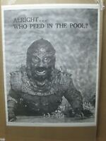 Vintage Poster Alright.. Who peed in the pool? 1970's Creature lagoon Inv#G4995