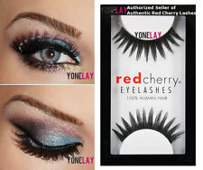 1 Pair AUTHENTIC RED CHERRY #62 Gigi Human Hair False Eyelashes Strip Eye Lashes