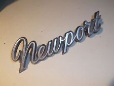 - 1966-1977 Chrysler Newport Fender Emblem PN 2605362 - Two Rear Mounting Posts