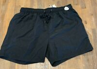 Mens size XL Black Swim shorts boardies elastic waist  board shorts RIVERS NEW