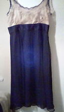 Pure Silk Black/Gold Next  Tall Party Dress sz16. Stunning!