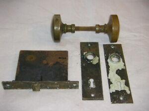 Vintage Antique Brass Door Knob Set