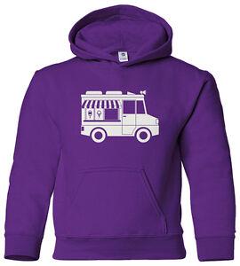 Ice Cream Truck Youth Hoodie Sweatshirt Cute Birthday Party Theme Gift