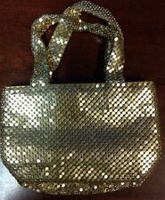 Shimmering Metallic Gold Evening Purse Nice Condition RecycledClothes.com